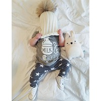 2017 summer baby boy clothes cotton printing t-shirt+pants infant clothes baby girl clothing set newborn 2pcs suits