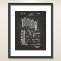 Hockey Goal 1948 Patent Art Illustration - Drawing - Printable INSTANT DOWNLOAD - Get 5 Colors Background