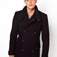 ASOS Wool Jacket With Funnel Neck