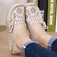 Spring women flats hollow out comfortable loafers women casual shoes