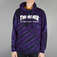 Thrasher Thrasher Skate Mag Logo Tie Dye Hoodie - Purple/Black - Thrasher from Native Skate Store UK