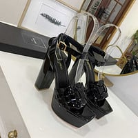 ysl women casual shoes boots fashionable casual leather women heels sandal shoes 70