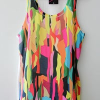 ON SALE women and men tank top print screen graphic design street fashion colorful for summer
