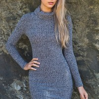 Hold Me Tight Dress Grey - New Arrivals