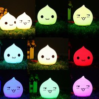 Battery Powered Colorful Waterdrop Silicone LED Night Light for Kid Bedroom Decoration