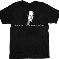 The Office Textbook Overthinker Kevin Malone Black Adult T-Shirt