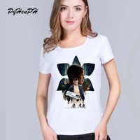 Fashion Brand t shirt women Stranger things Printed Slim Short Sleeve Round Neck T-shirts Casual Tops Tees Clothing Summer tops