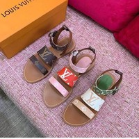 Louis Vuitton LV Flat-soled fashion sandals shoes