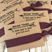 Bachelorette Hair Tie Party Favors // Bride Tribe // To Have and To Hold Your Hair Back