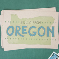 Postcards // Set of 6 // Hello From Oregon