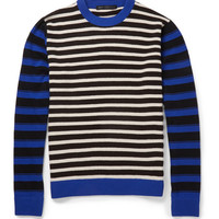 Marc by Marc Jacobs - Striped Wool Crew Neck Sweater   MR PORTER