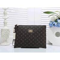 LV Louis Vuitton Stylish Trending Women Men Office Bag Leather Handbag Wrist Bag Purse Wallet I-KSPJ-BBDL