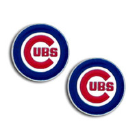 MLB Chicago Cubs Stud Earrings