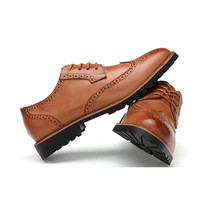 Brogue Pointed Toe Carved Oxfords Dress Shoes