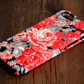 Stylish Floral Pattern 3D-Wrap iPhone 5S Case iPhone 5 Case iPhone 5C Case iPhone 4S Case iPhone 4 Case iPhone 6 Rubber Case