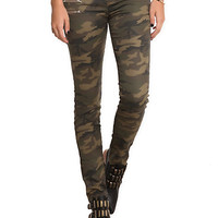 Camouflage Zipper Skinny Pants | Hot Topic