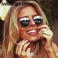 Hot Rays Small Round Sun Glasses Women 2017 Superstar Cool Mirror Sunglasses Luxury Brand Ladies Circle Driving Goggles Oculos