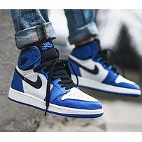 NIKE Air Jordan Popular Men Women High Top Sport Sneakers Shoes Blue