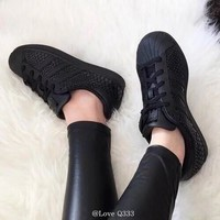 Adidas Originals Superstar W Black Snakeskin Womens Casual Shoes Sneakers S75126