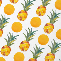 Pineapple Pattern by Cat Coquillette