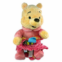 """disney parks 10"""" baby winnie the pooh plush toy with blanket new with tag"""