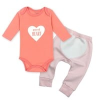 2pcs/lot Baby Girl Clothes Newborn Toddler Infant Autumn/Spring Cotton Baby Rompers+ Baby Pants Baby Clothing Sets