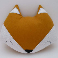 Gold Fox Pillow - Stuffed Animal Plush - Soft Toy - Fox Doll Cushion