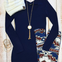 Subtle Hints Top: Navy