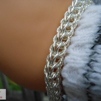 Sterling Silver Full Persian Chainmaille Bracelet   cathycreates.net