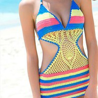Rabinbow Brightly Crochet Bikini Swimsuit from SarahHunt