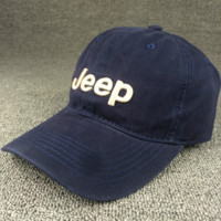 Navy Blue Color Jeep Embroidered Baseball Cap Hat