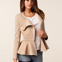Fall/Winter Frill Hem Ultimate Tunic Jacket with Zip