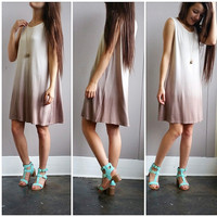 An Ombre Potato Sack Dress