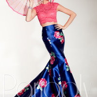 Panoply 14805 Printed Skirt Formal Prom Dress
