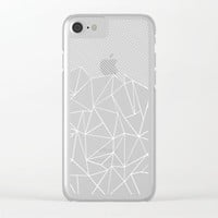 Ab Lines 45 Black Clear iPhone Case by Project M