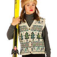 Tree for Two Ugly Christmas Sweater Vest