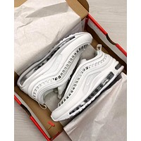 Nike AIR MAX 97 UL tide brand men and women breathable casual shoes White