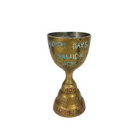 Brass Cup Bell Base Toasting Goblet Shot Glass Vintage Man Cave Bar Decor Gift Celebrate Party Drinking Cheers Saluda A Votre Sante Skoal