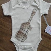 Acoustic guitar applique Onesuit/toddler t-shirt - unisex