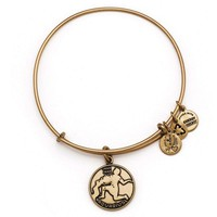 Alex and Ani Aquarius Charm Bangle Bracelet - Rafaelian Gold Finish