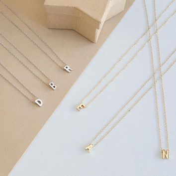 Minimalist Initials necklace Name necklace, Personalized jewelry  XL1138