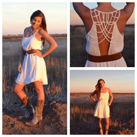 Small Town Angel Cut Out Back Dress