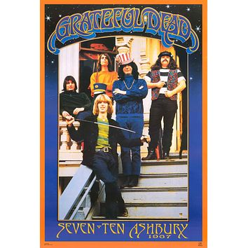 Grateful Dead Haight-Ashbury 1967 Poster 24x36