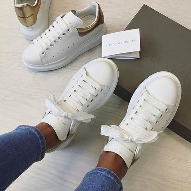Image of Alexander Mcqueen Casual Little White Shoes-46