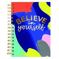 Believe In Yourself Spiral Hard Cover Journal in Joyful Abstract