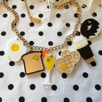 Ladies Who Brunch Acrylic Charms Necklace