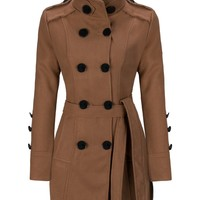 Casual Classical Double Breasted Wool Coat