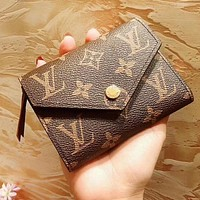 Louis Vuitton LV High Quality Hot Sale Women Leather Buckle Wallet Purse