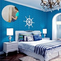 Creative 3D Foam DIY Wall Stickers Home Decoration Embossed Brick Stone Living Room Bedroom Background 77cm*70cm