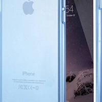 """iPhone 6s Case, 4.7"""" Shamo's® Thin Case Cover TPU Rubber Gel, Transparent Clear Back Case for Iphone 6, Soft Silicone, Shamo's [Compatible with iPhone 6 and iPhone 6s] (Blue)"""
